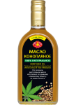 Hemp oil unrefined Golden Kings of Ukraine  350 ml in glass